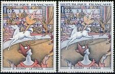"""FRANCE STAMP TIMBRE N° 1588A """" LE CIRQUE , SEURAT, VARIETE COULEUR """" NEUF xx TTB"""