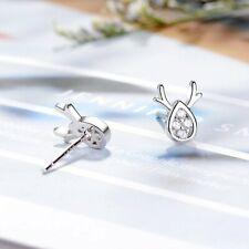 2020 Fashion Sliver Christmas Diamond Elk Ear Stud Fashion Earrings Jewelry New