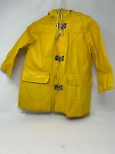 Vintage Yellow Raincoat Infant Toddler -metal closures