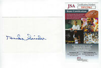 DODGERS Duke Snider signed 3x5 index card JSA COA AUTO Autographed Brooklyn