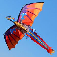 Multicolore 3D Dragon Volant Cerf-Volant avec 100M Queue Ligne Enfants Toys Trè
