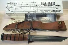1998~KABAR~USMC FIGHTING KNIFE~UNUSED CAMP PENDLETON COMBAT WEAPON w/SHEATH +BOX