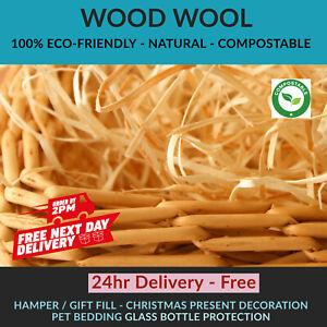 WOOD WOOL | HAMPER Fill | Packaging Filling Gift Basket Shred WoodWool Pets