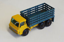 Matchbox Dodge Stake Truck No. 4  Blue & Yellow RARE original wheels