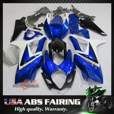 For SUZUKI GSXR1000 2007 2008 ABS Injection Mold Bodywork Fairing Kit Blue White