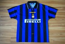 INTERNAZIONALE HOME FOOTBALL SHIRT 1996-1997 VINTAGE UMBRO JERSEY MAGLIA LARGE
