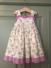 Girls Floral Dress With Matching Knickers Aged  12 Months