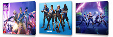 Fortnite Kids canvas wall art plaque pictures set of three pack 2