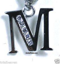"NEW Initial "" M "" 14K White Gold Belly Navel Ring $189"