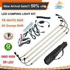 4X LED CAMPING LIGHTS KIT 12V 3 ORANGE+1 White STRIP BAR RIGID CARAVAN 4WD 4X4