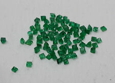 2.00cts 85pc Natural Loose Green Emerald Square 1.3-1.8mm Non-treated Fine Qlty