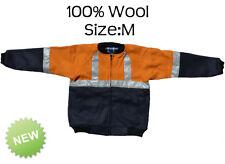 Vin's Garment Fleece Jacket 100% Wool With Reflective Tape Size M