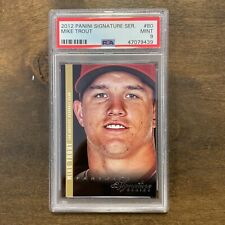 2012 Panini Signature Series Mike Trout Angels PSA 9 MINT