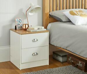 Cream Bedroom Furniture Range Bedside Table Wardrobe Chest of Drawers Storage