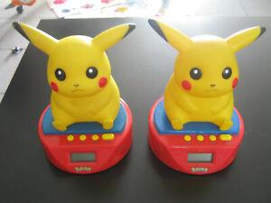 Lot 2 Réveil Nintendo Pokémon Pikachu