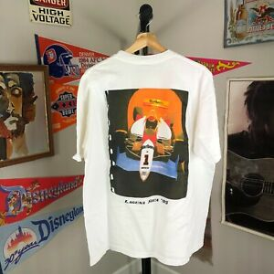 Vintage 90s 1990s Marlboro Racing Graphic T-Shirt Men's XL