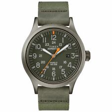 Timex TW4B14000, Men's Expedition Scout Green Fabric Strap Watch, Date, Indiglo