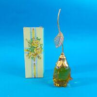 Vtg 70s Avon COURTING ROSE Full 1.5oz Glass Moonwind Cologne Decanter Bottle NOS