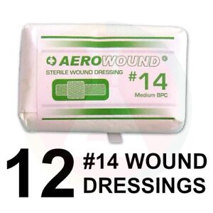 12 X STERILE WOUND DRESSING No. 14 Hospital grade FIRST AID