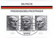 BRD 1975: Friedensnobelpreisträger-Block Nr. 11 mit Bonner Ersttagsstempel! 153