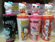 Set of#4 Hello Kitty Sanrio Popcorn Bucket CupTopper Limited Best for Collection