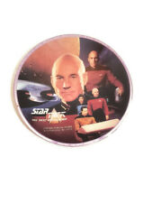 Star Trek Next Generation Mini Plate Captain Jean-Luc Picard USS Enterprise Crew