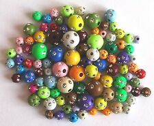 0,03 €/STK 100 brillo-perlas pedrería multicolor 6 - 10 mm acrílico spacer beads mezcla