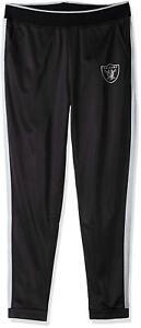 Oakland Raiders NFL Women's G-lll Black Performance Progression Track Pants: S-L