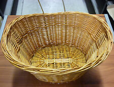 CESTINO BICICLETTA OVALE IN VIMINI WICKER BICYCLE BASKET C2/092