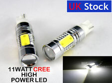 T10 501 W5W  interior WHITE Side light LED 11 WATT HIGH POWER CREE LED D
