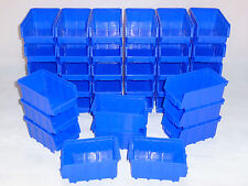 40 Stk. Stapelkästen  Stapelboxen  Gr.2 Stapelkasten  blau  Sichtlagerkasten Neu