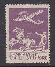 Denmark Sc C2 MLH. 1926 15o violet First Air Mail