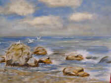 Sublime Tableau__Mouettes Plupart Strand __ Marines _