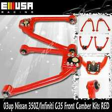 Front Camber Kit fit 2003 2004 2005 2006 2007 Infiniti G35 Coupe  BRAND NEW! RED