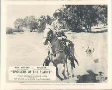 SPOILERS OF THE PLAINS ROY ROGERS TRIGGER LOBBY CARD