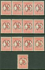 AUSTRALIA : 1913. Stanley Gibbons #O2cw Die I Watermark Inverted. Catalog £1,690