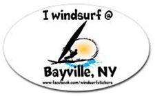 "I  Windsurf @  Bayville, NY    Bumper/Window Sticker  OVAL 3"" X 5"""