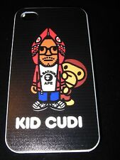 KId Cudi Hard Cover Case for iPhone 4 4s New Cartoon Kid Cudi and Monkey