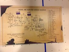 Vintage Victor Animatograph Corp - Model 40B Amplifier Wiring Diagram