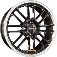 4 Alufelgen BORBET CW2 Black Rim Polished  7x17 ET20 4x108 65,1 NEU