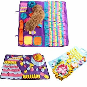 Pet Dog Snuffle Mat Sniffing Training Blanket Relieve Stress Nosework Puzzle