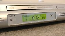 Sony ICF-CDK50 Under Kitchen Cabinet CD Phone Aux Radio Clock Tested NO REMOTE