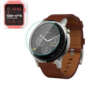 For Moto 360 2nd Gen 42mm 46mm 9H Tempered Glass Screen Protector Bubble-Free