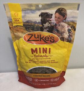 Lot Of 3 - Zuke's Mini Naturals Chicken Recipe 16 oz Bag Dog Treats - 11/22