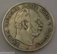 5 Mark Silbermünze Dt. Kaiserreich 1876 A - Wilhelm dt. Kaiser König v. Preussen