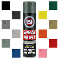151 Brand Aerosol Spray Paint Satin Gloss Matt Primer Graffiti DIY 250ml