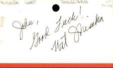 Wat Misaka Signed Index Card 3x5 Autographed Knicks 60757