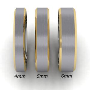 Moderner Damen Herren Freundschaftring Partnerring Ring Titan/bicolor 20006645