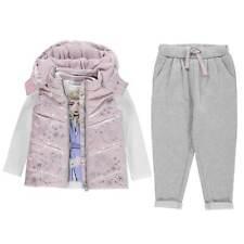 Character Girls Gilet Set Sleeveless Jacket Pants Trousers Frozen Outwear Top