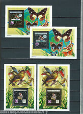French Colonies Central Africa gold and silver stamp sheets - butterfly - Scouts
